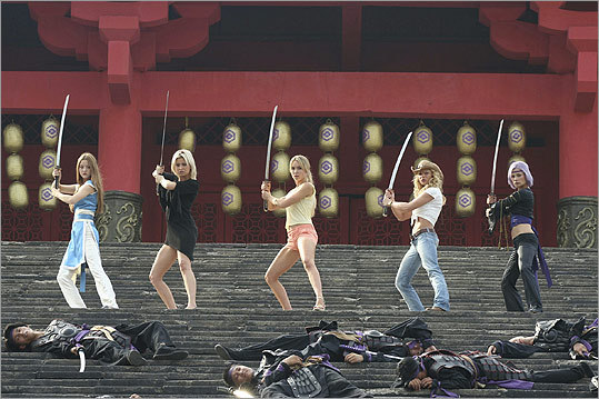 DOA: Dead or Alive This 2006 film, based on the video game of the same name, starred a bevy of tough ladies (from left, Devon Aoki, Holly Valance, Sarah Carter, Jaime Pressly, and Natassia Malthe) facing off with other martial artists in an invitational death tournament.