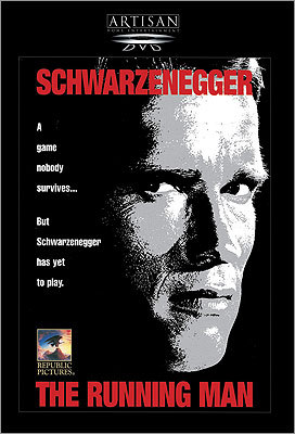 The Running Man This 1987 action flick places Arnold Schwarzenegger in the distant year of 2019. Future entertainment includes watching convicts die on a TV game show. But, as the tagline suggests, 'Schwarzenegger has yet to play.'