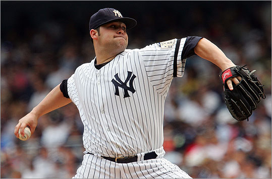 New York Yankees pitcher Joba Chamberlain, shown in 2008, is one of many ballplayers with a bulging waistline.