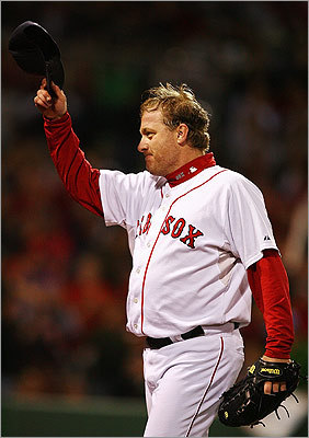 Is the heft of baseball players a problem ? Check out a few rotund ballplayers. Pictured: Red Sox pitcher Curt Schilling in 2007.
