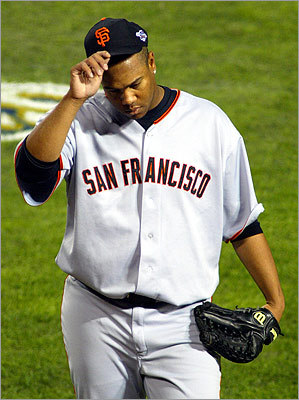 San Francisco Giants pitcher Livan Hernandez in 2002.