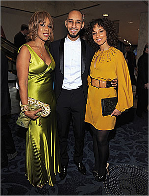 Gayle King, Swizz Beats, and Alicia Keys