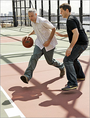 A huge New York Knicks fan, Yauch played one-on-one basketball with Associated Press reporter Jake O'Connell in June 2008.
