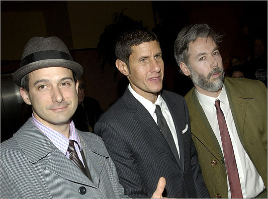 In 2006 the Beastie Boys (Yauch is at right) premiered a new film 'Awesome; I ... Shot That!' in New York. The film documents a 2004 Beastie Boys concert at Madison Square Garden, comprising footage shot by 50 fans who were given cameras to record the show.
