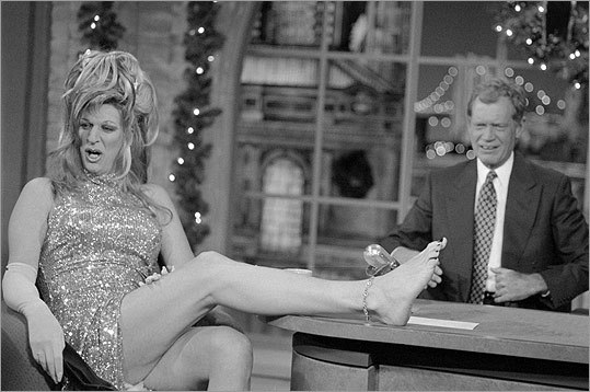 After Stern repeatedly dressed in drag during promotion for the book, Mr. Blackwell put the DJ atop his list of poorly dressed women. Stern took it in stride, showing off his painted toenails to David Letterman on the 'Late Show With David Letterman' on Dec. 20, 1995.