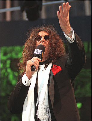 Stern greeted fans at the world premiere of 'Private Parts' at Madison Square Garden on Feb. 27, 1997.
