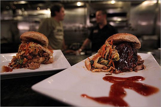 Pulled pork sandwiches at Tremont 647, the restaurant owned by Andy Husbands.