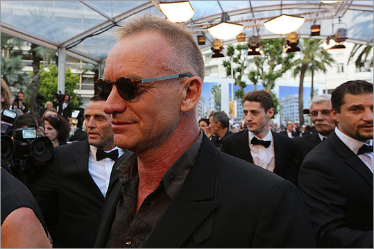 Sting arrives for the screening of the film 'Mud' on May 26.