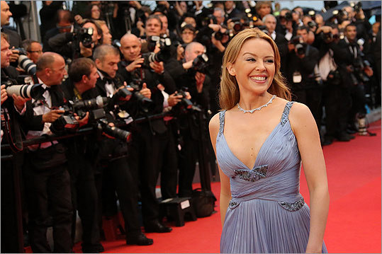 Musician-actress Kylie Minogue at the closing ceremony.