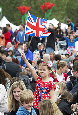 A girl waved Britain's Union flag during the first day of a two-day family festival in Hyde Park, central London, on June 2.