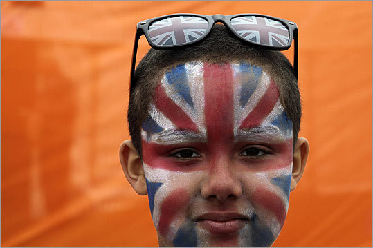 Joshua, 8, posed for a picture during a Jubilee Family Festival in Hyde Park.