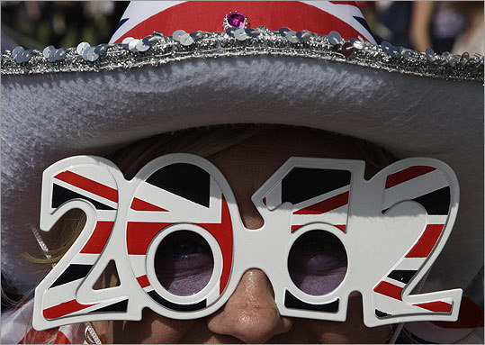 A woman posed for a picture during a Jubilee Family Festival in Hyde Park.