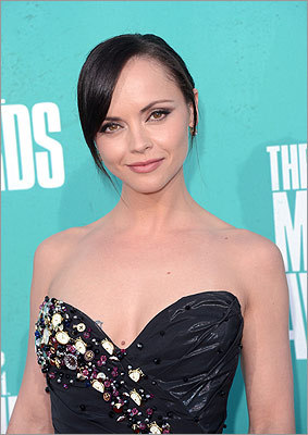 Christina Ricci on the red carpet.