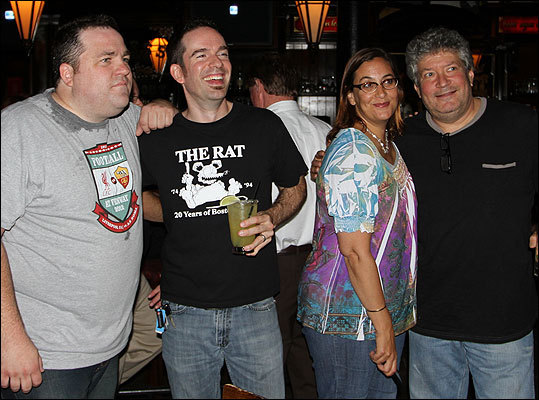 The RadioBDC crew (left to right) - Paul Driscoll, Adam 12, Julie Kramer, and Henry Santoro - posed for a photo as the crowd gathered.