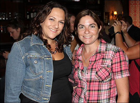 Lisa Finelli (left), originally from New York and now lives in Boston, attended the event with Paula Hubbard of Newton, N.H. Finelli chose the Ramones to get things started at RadioBDC. 'It just feels like a good way to kick off RadioBDC. It's very rock and roll.'
