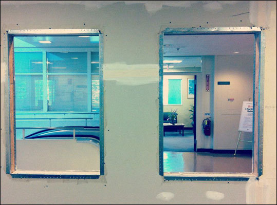 And on day four ... it's one step closer to windows. We have holes ... repeat: We have holes!
