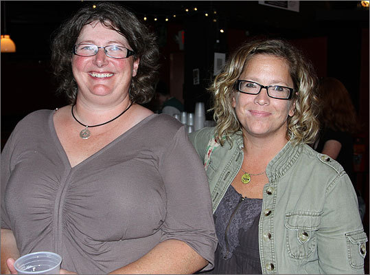 Alysia Rourke (left), of Medford, and Leslie Dunn from Roslindale, both enjoyed the private performance.