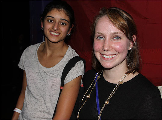 Sejal Vyas, left from Someville, and Kathleen O'Donnell, also from Somerville, took in the free show. Oh ... they're roommates.