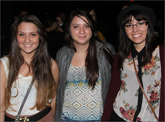 Maria Earabino, left from Walpole, Cheyanne Gonzales of Boston, and Jessica Lupo-Brackett enjoyed the performance.