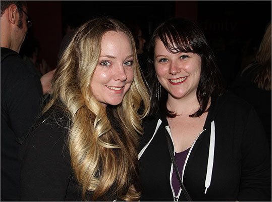Margot A. (left) and Megan Pitts, both of Jamaica Plain, were at T.T. the Bear's for the free RadioBDC event.