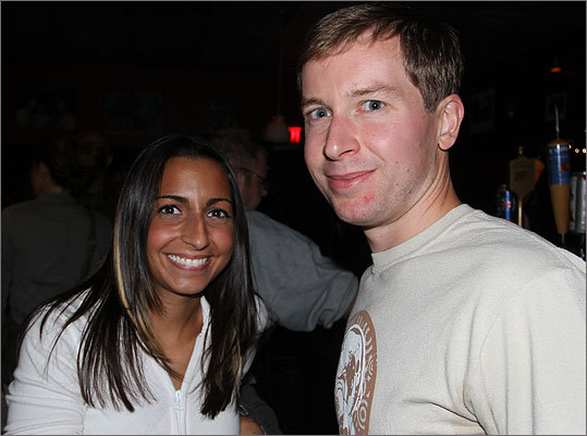 Stephanie Cardella, of Southie, and Mike Ring, of Brighton, were on hand for the Royal Teeth show.