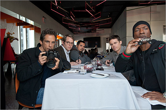 In 2011, Casey (second from right) joined forces with Ben Stiller, Matthew Broderick, Michael Pena, and Eddie Murphy in 'Tower Heist.'
