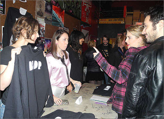 Fans purchased BLDP merch following the performance.