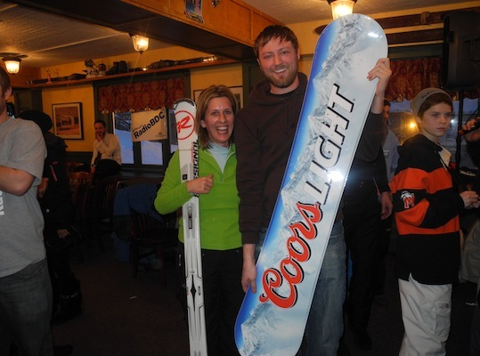 These lucky winners headed home with some new Coors ski and snowboard gear and big smiles.