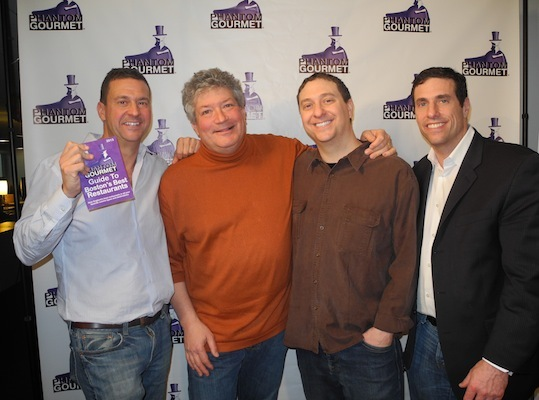 The brothers of Phantom Gourmet (Dave, Mike and Dan Andelman), joined RadioBDC&#146;s Henry Santoro for an evening in The Boston Globe&#146;s Media Lab.