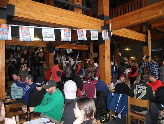 The RadioBDC Coors Light Drafters Apres Ski Party at Bretton Woods' Slopeside Restaurant was packed.