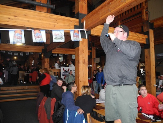 DJ and MC Mike Snow got the party started at Bretton Woods by kicking off the games and prizes portion of the night.