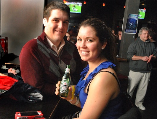 RadioBDC listeners Rob Phelps and Paige Strecker hung out and drank some Heineken before Kodaline started their set.