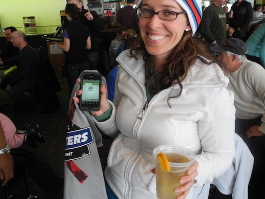 Jessica Sutherland downloaded the RadioBDC app, was drinking a Coors Light and had something orange (an orange in her Coors) so she won a prize!