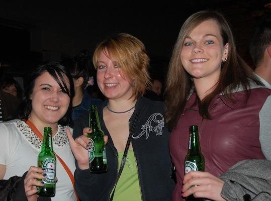 Kacie Randolph, Sarah Podok, Amy Tourigny (all of Brighton), came out to see The 1975.
