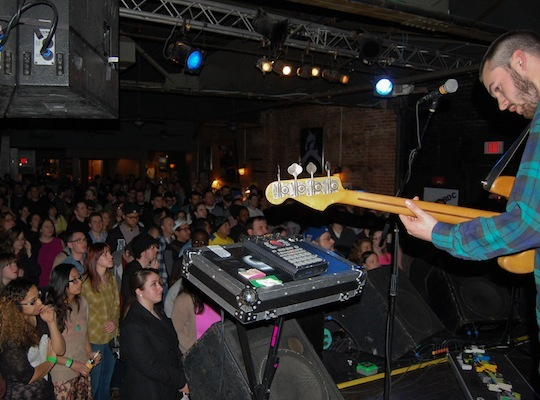 A huge crowd made it out to see the band, filling the Brighton Music Hall in Allston.