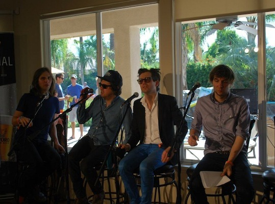 Phoenix was among the many bands to stop by the house to chat with RadioBDC DJs.