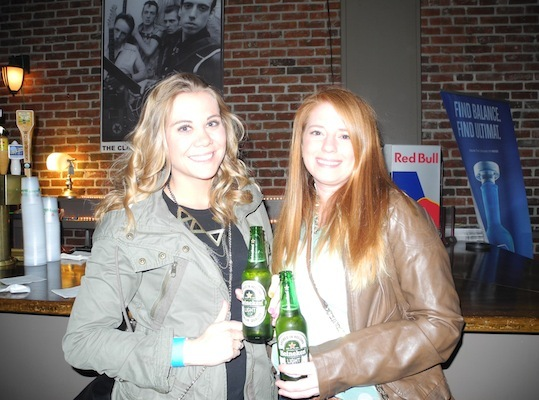RadioBDC listeners Carrie Downing and Claire Brunick, at Brighton Music Hall.