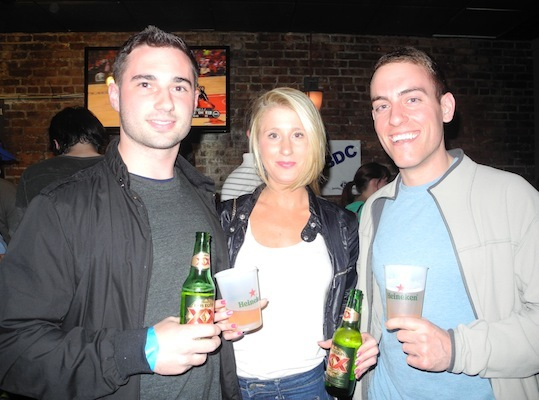 Derek Smith, hannah Tipton and Daniel Maiorana enjoyed some Heinekens.