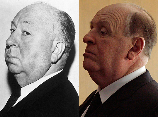 Subject : Alfred Hitchcock (left) Actor and film : Anthony Hopkins in 'Hitchcock' (2012) Does Hopkins look like Hitchcock?
