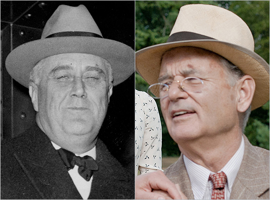 Subject : Franklin D. Roosevelt (left) Actor and film : Bill Murray in 'Hyde Park on Hudson' (2012) Does Murray look like Roosevelt?