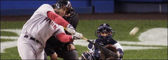 Mark Bellhorn's three-run homer in the fourth inning provided the winning margin.