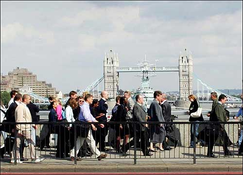 Londoners walked home near the London Bridge Underground Station on Thursday.