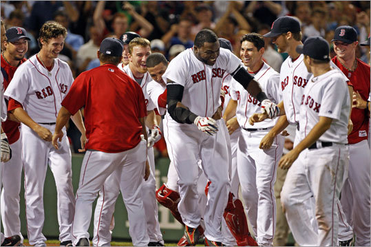 As debate begins to swirl over David Ortiz's future with the Red Sox, we look back at the many games Big Papi ended with a swing of the bat. Ortiz has 17 walkoff hits in his Red Sox career (including postseasons), 11 of them homers. Here is a look back at each one.