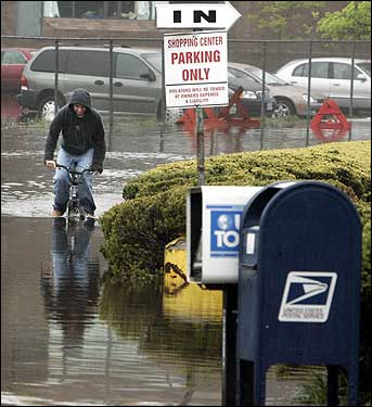 biking through the flood