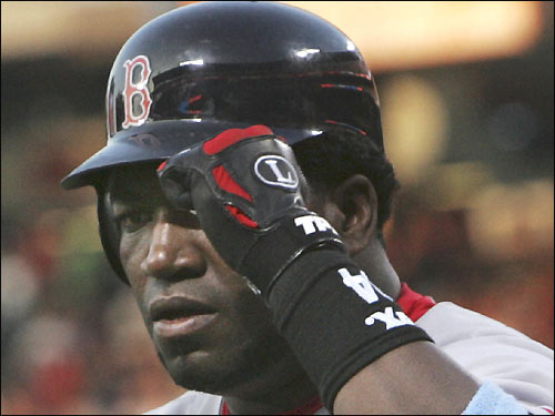 David Ortiz deserved a tip of the cap after hitting a solo homer in the first inning.