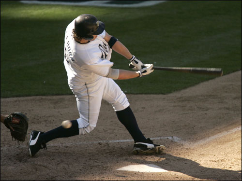 Mark Bellhorn, who appeared as a pinch hitter, struck out in his only at bat in the NLDS.