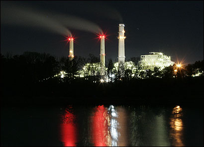 A TXU power plant in Mt. Pleasant, Texas.