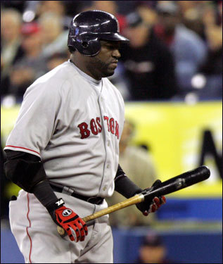 With Manny Ramirez aching, the Red Sox need David Ortiz to carry a heavier load than ever. But will his balky right knee hold up? He hit his first walkoff homer of the season last week and is batting well over .300 with 17 RBIs in 18 September games, so it appears he is getting hot at the right time, but what if that knee takes a turn for the worse? Where will the Sox be then?