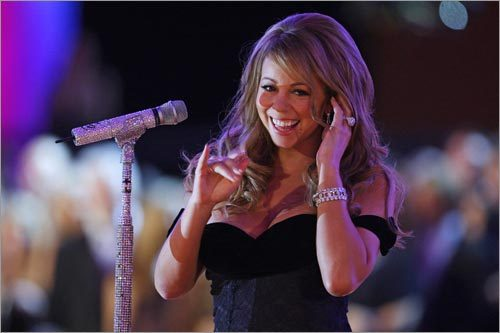Mariah Carey sang during the Neighborhood Inaugural Ball.