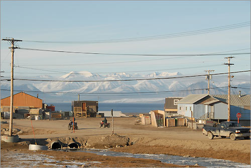The trip included a stop at the community of Pond Inlet.